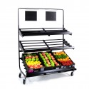 Fresh Produce Display 3 Tier Rack