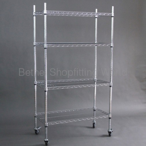 Chrome Wire Display Rack 900mm