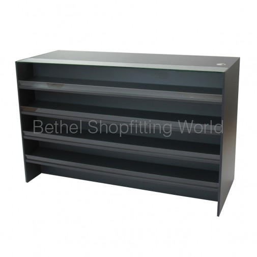 Counter With Confectionery Display Charcoal Grey