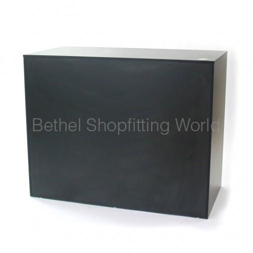 POS Timber Counter Charcoal Grey