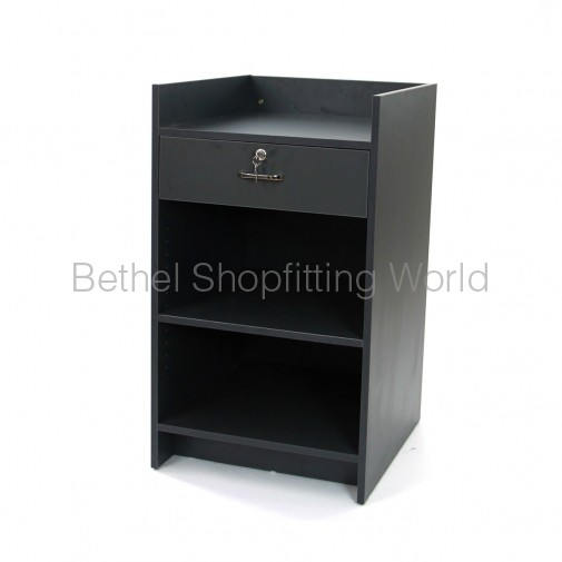 Cash Register Counter With Draw Charcoal Grey