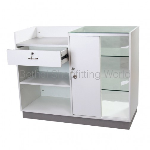 Display Counters With Glass & Timber Door