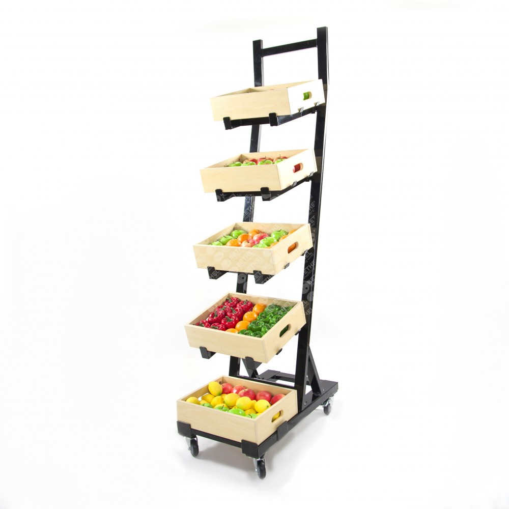 Fresh Produce Display 5 Tier Rack