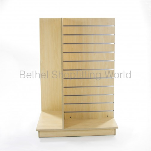 SW802: 4 Way Slat Panel Gondola