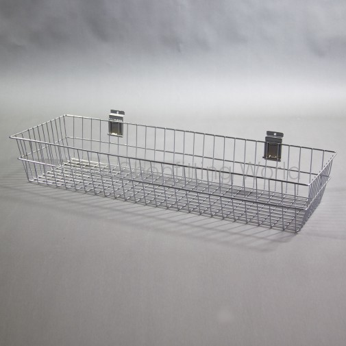 SW-B15-900mm Slat Panel Chrome Deep Basket