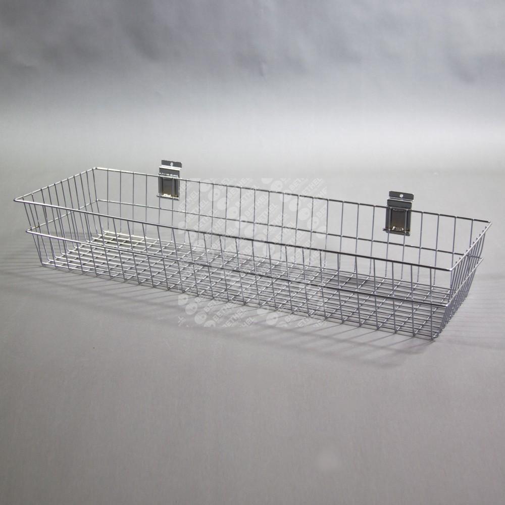 SW-B15 Slat Panel Chrome Deep Basket-900mm