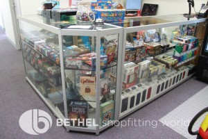 Games Shop Slat Wall Glass Showcases Counters 40