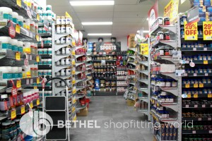 Custom Made Heavy Duty Pegboard Shelving Narrow23