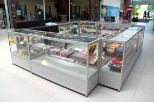 At Bethel Shopfitting World, we have a range of shopfitting fixtures suitable for mobile phone stores or kiosks. Popular systems are: Glass Display Counters Glass Display Showcases Slat Panel Gondolas Special thanks to Samad from Mt Annan for choosing Bethel Shopfitting World's glass display...