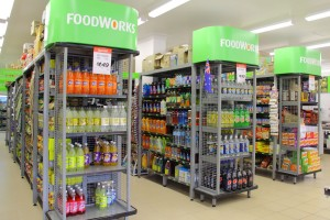 FoodWorks Supermarkets are a major player in the supermarket industry and we are proud given opportunity to work with some of best FoodWorks supermarket owners. The photos here are from a number of FoodWorks supermarkets, shelving used here are: SYS-E Outrigger Supermarket Shelving Hammertone...