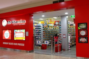 Bethel Shopfitting World has been working closely with Mr Vitamins to revamp the 2 stores at Chatswood and fitted out the brand new store in Ashfield Mall. The shelving has been our Heavy Duty Pegboard Shelving and Custom Made to 670mm depth at 2230mm high, specially made chrome wire shelves....
