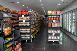 Bethel Shopfitting World specialize in supplying shelving solutions to all types of independent supermarkets, the systems used here are: SYS-A Heavy Duty Pegboard Shelving SYS-AG Heavy Duty Pegboard Shelving in Hammertone Grey Finish SW710 Express Check Out Counter SW720 Cigarette cabinets...