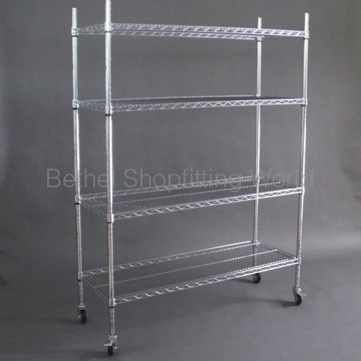 Chrome Wire Display Rack 1200mm