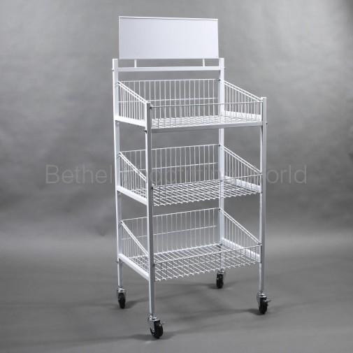 SH-P2-A 3 Basket Rack White