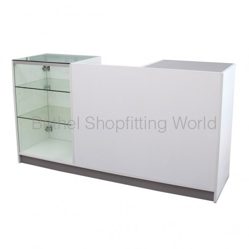 Retail Counter Tilt Cutout & Glass Display