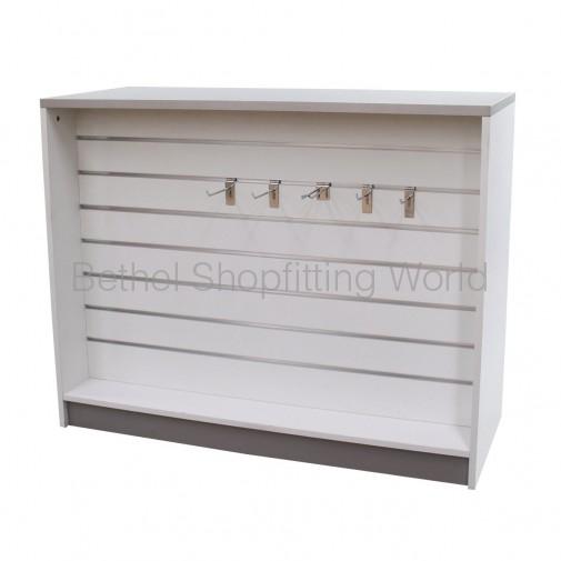 Slat Panel Display Counter