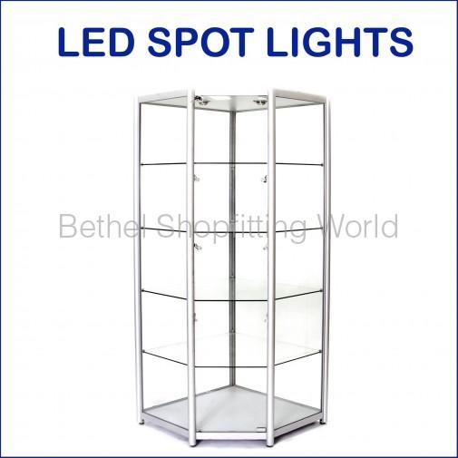 BGS-W-19: Luxury Fully Visible Corner Glass Showcase