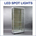 LED Glass Display Showcases Cabinet 900MM
