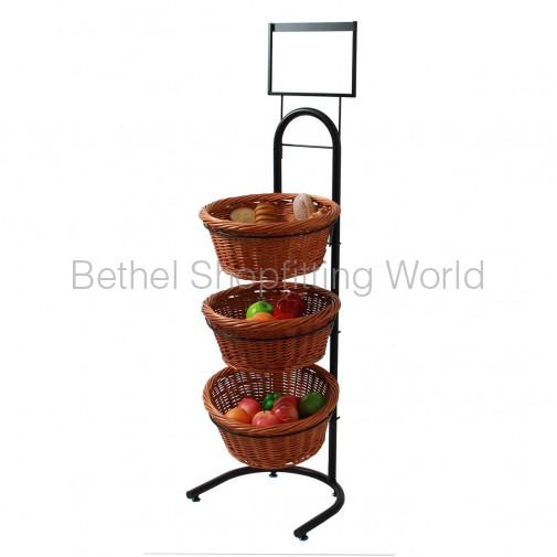 3 Black Basket Stand ( SG-C04 )