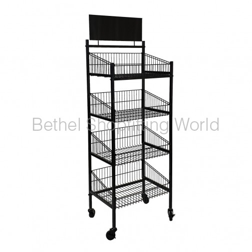 SH-P2-C 4 Basket Rack White