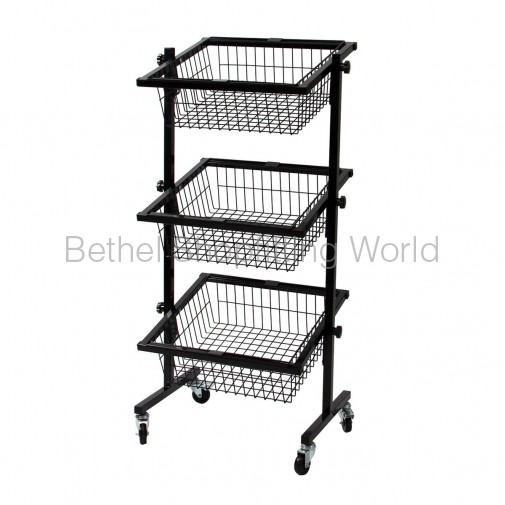 SG-C04   3 Basket Stand Black