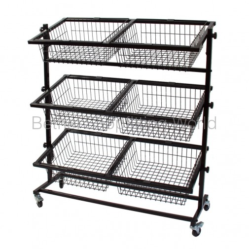 SG-C05 6 Basket Stand Black