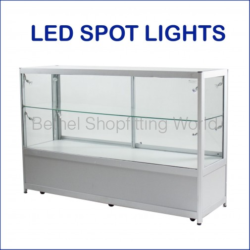 BGS-CS  Glass Display Counter with Storage Cabinet