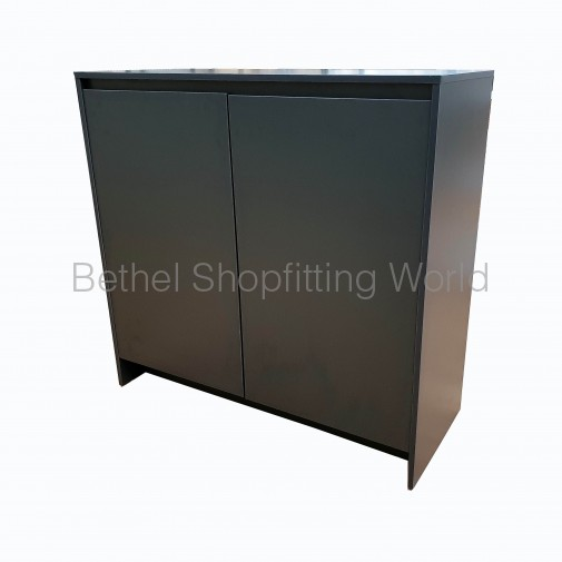 Flat Bench Retail Timber Counter Charcoal Grey (SW726G)