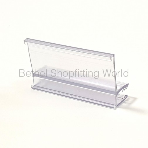 Glass Shelf Price Label Holder