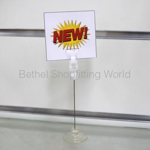 Suction Pop Clip For Glass Shelf