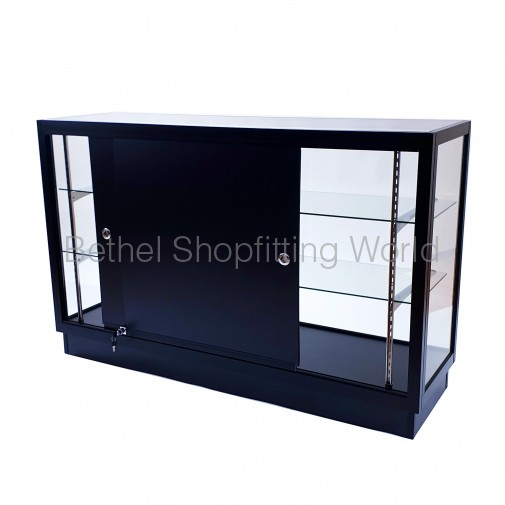 Extra Vision Glass Display Counter Black