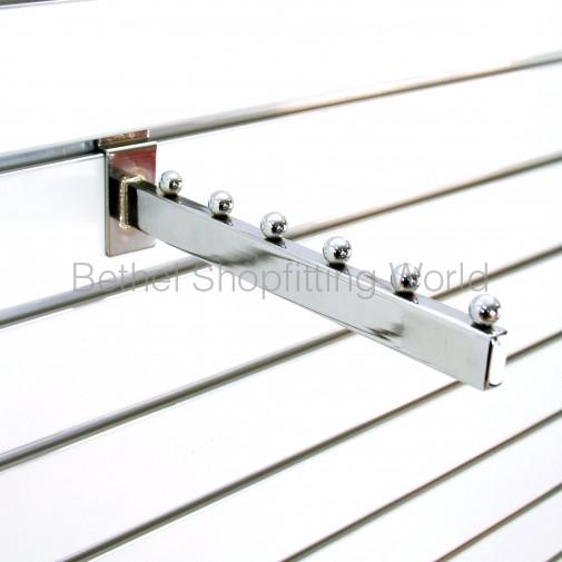 Slatwall Panel Square Straight 6 Ball Arm Display Hook