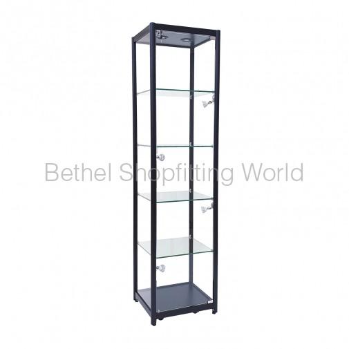 LED Glass Display Showcases Cabinet 900MM (Black)