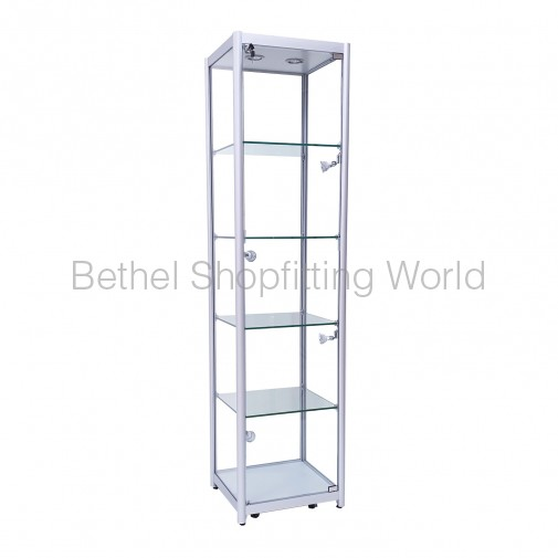 LED Tower Glass Showcases Cabinet 450MM (Black)