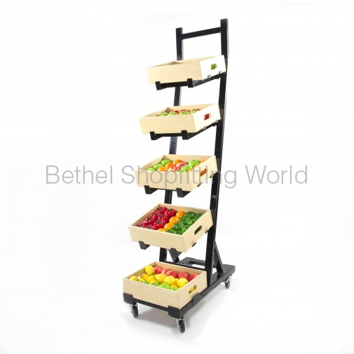 SW502: 5 Tier Fresh Produce Display Rack