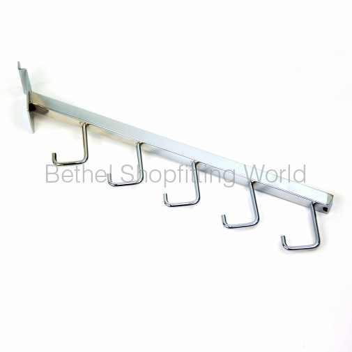 SW125  400mm Slat Panel Angled 6 Hook