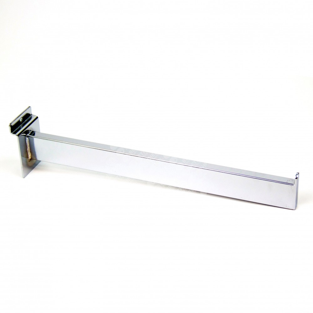 Slatwall Panel Rectangular Straight 1 Pin Arm Display Hook