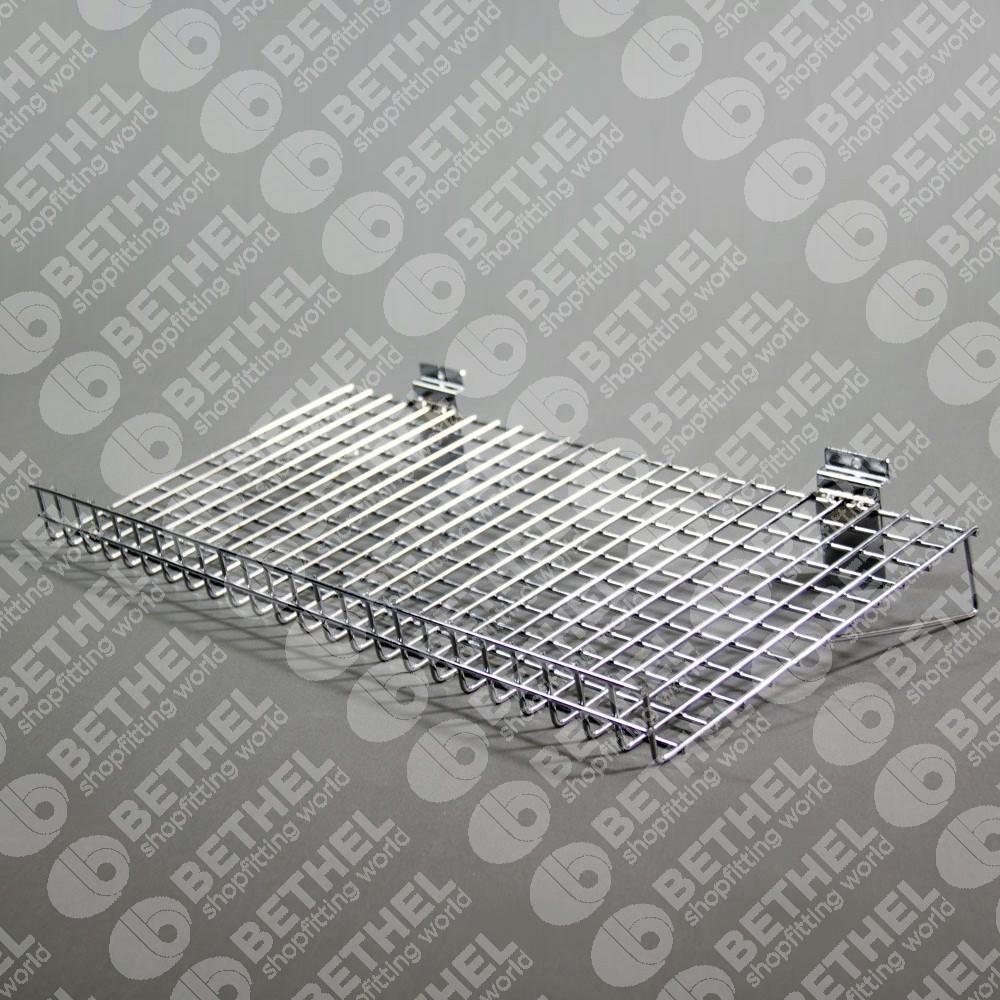 SW-CF600mm Slat Panel Chrome Flat Wire Shelf
