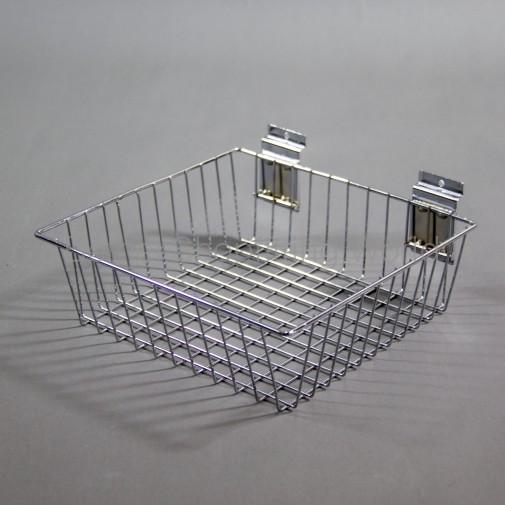SW-B10-300 Slat Panel Chrome Shallow Basket