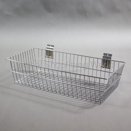 SW-B15-600mm Slat Panel Chrome Deep Basket