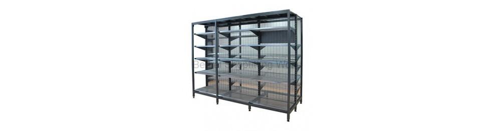 SYS-E Outrigger Supermarket Shelving Hammertone