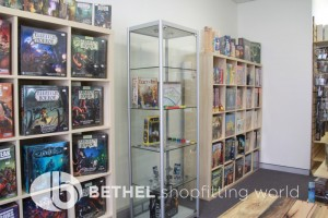 Games Shop Slat Wall Glass Showcases Counters 30