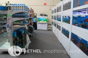 Pet Aquarium Shelving Shopfitting Racking d