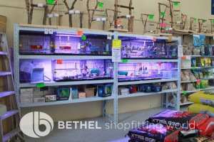 Pet Aquarium Shelving Shopfitting Racking w