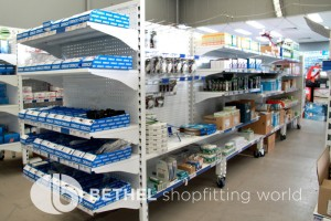 Pegboard Shelving Slat Panel Display Shopfitting 4