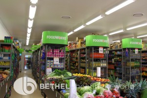 FoodWorks Supermarket Outrigger Shelving Fixtures b