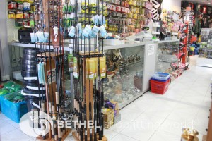 Fish tackle stores requires below shopfitting and display products: